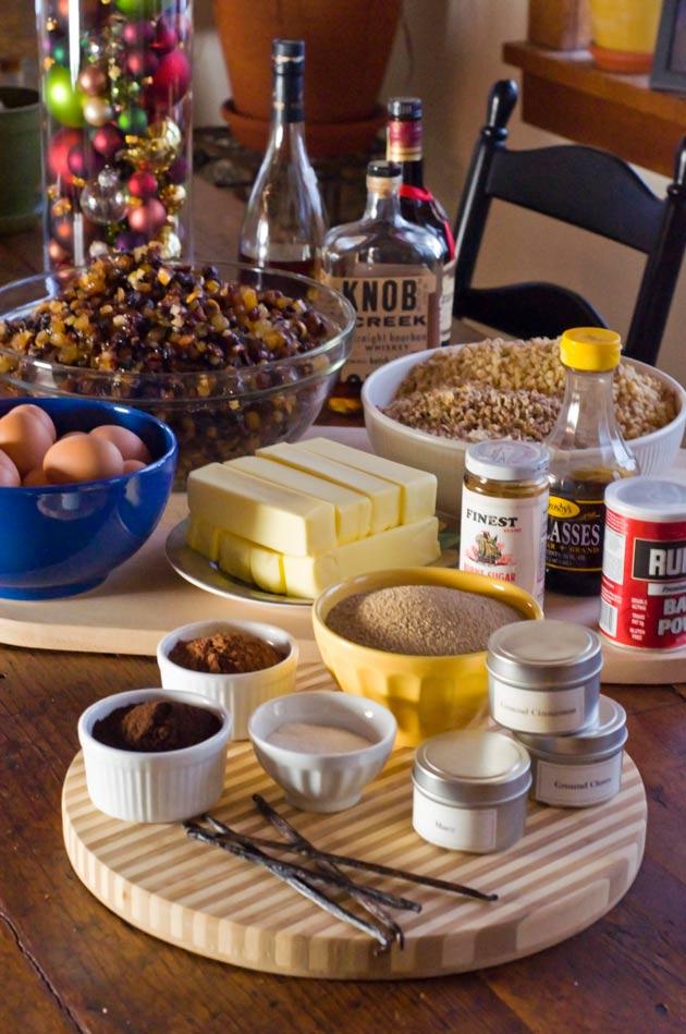 Fruitcake-Ingredients
