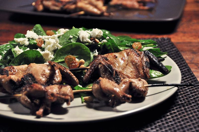Grilled-Quail-and-Salad